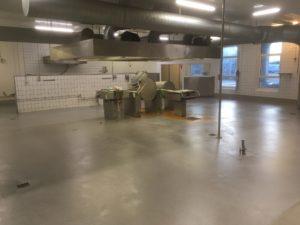 gulv industrikøkken